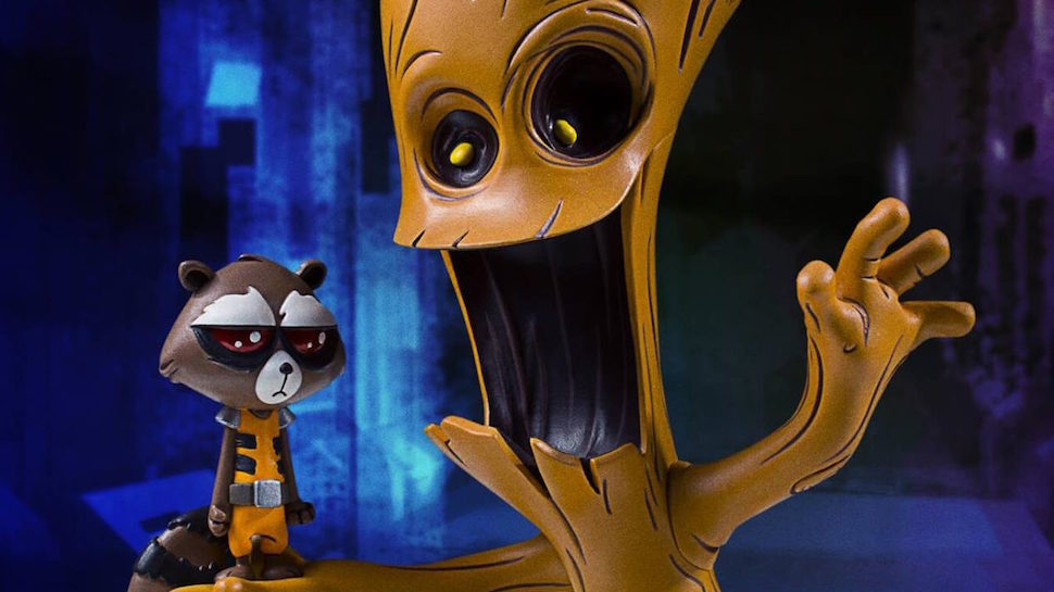 Gentle Giant's New Rocket Racoon & Groot Statue is Adorably Animated