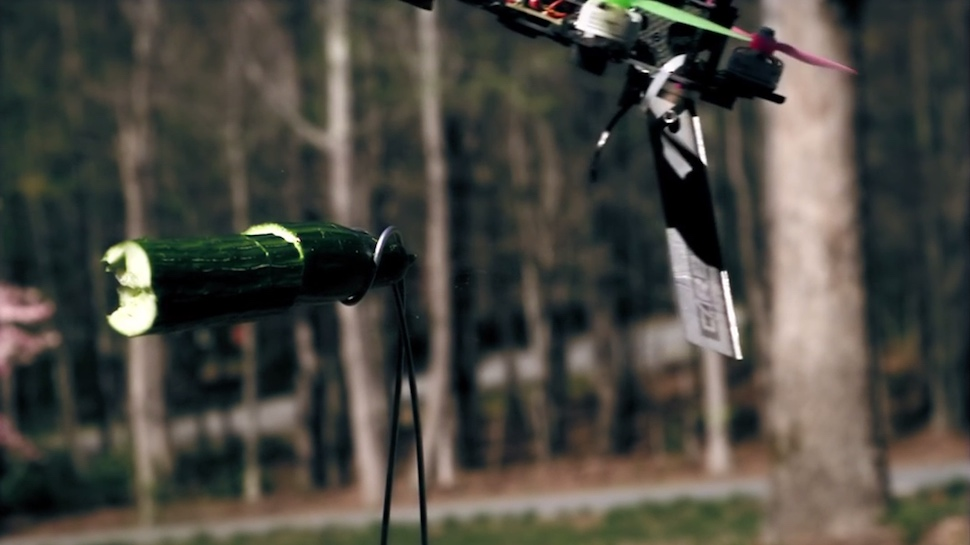 Drones Playing Fruit Ninja Looks Cool but is Definitely Kind of Terrifying
